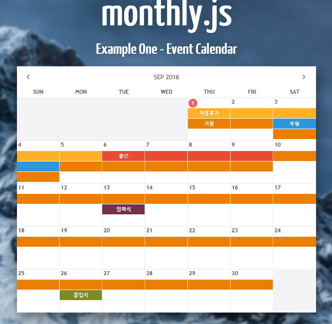 Weekly Calendar Js : Monthly jquery based responsive calendar plugin happycgi